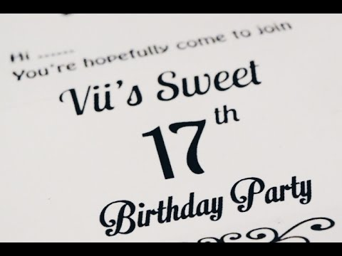 Happy Sweet Seventeen Vivi!