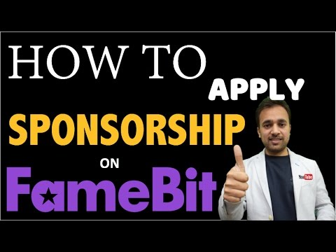 How to apply a Sponsorship for YouTube channel on FAMEBIT