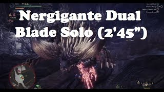 MHW - Nergigante Solo with Dual Blades (2