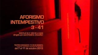 Aforismo Intempestivo 3-41 [trailer]