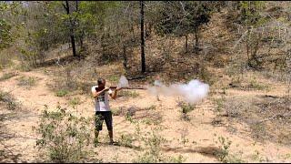 Agrupamento de espingarda bate bucha tiro a 25 metros