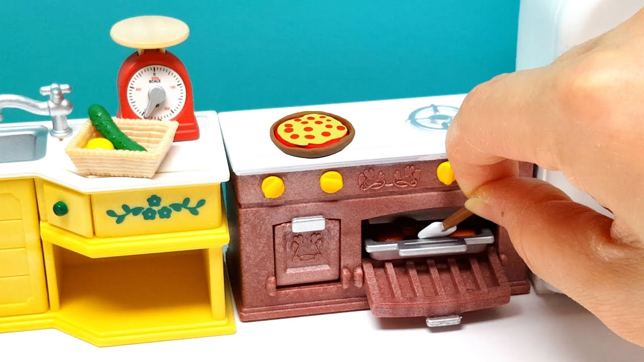 Kitchen Toy Set Calico Critters Polly Pocket Size Peppa Pig ...