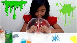Mainan Anak Slime 💖 Jessica Membuat Balon / Bubble dari Slime 💖 Let's Play