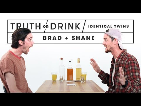 Identical Twins Play Truth or Drink (Brad & Shane) | Truth or Drink | Cut