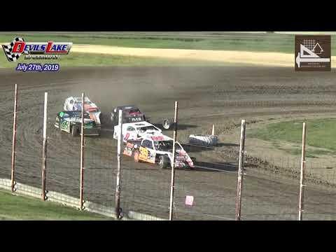 Devils Lake Speedway WISSOTA Midwest Modified Heats (1st Round) (7/27/19)