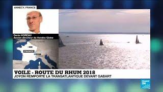Route du Rhum : le vieux loup de mer Francis Joyon l'emporte face au jeune François Gabart