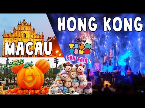 Travel Macau & Hong Kong - First Tsum Tsum Fun Fair at Disneyland , Halloween, BE@RBRICK, Food