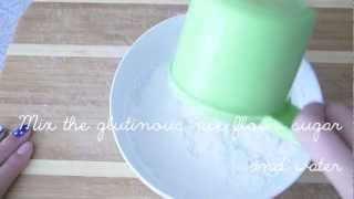 how to make green tea mochi ♥ Thumbnail