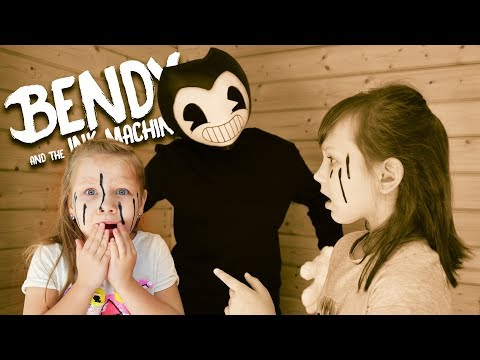 Bendy and ink machine in real life! We accidentally called him! Star vs Bendy! Funny video