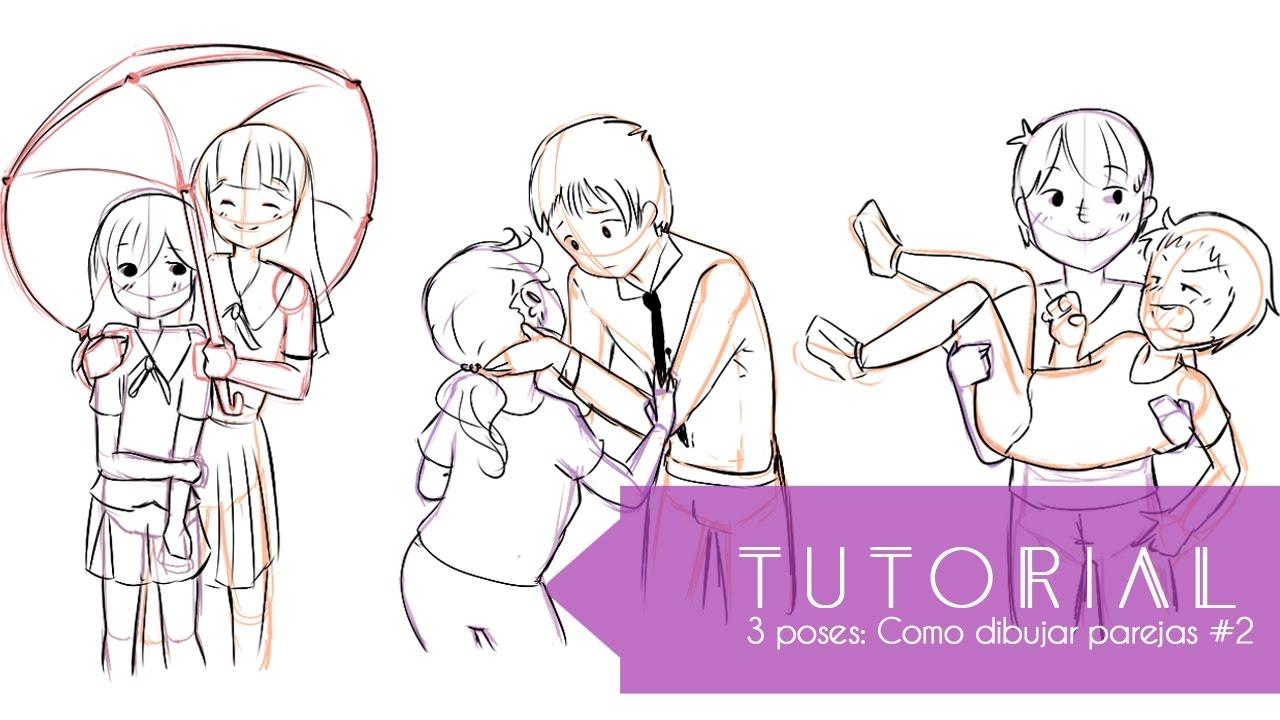 Tutorial ۰•○Aprende a dibujar 3 tipos de poses!○•۰ #4 Parejas ...