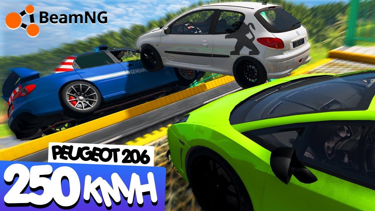 Download 250 KM/H EN PEUGEOT 206 🔥 | BeamNG Drive