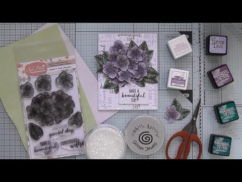 Decoupaged and Paper Pieced Violets :D