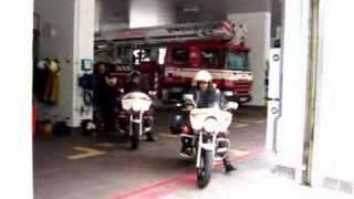 Fire bike team Singapore Civil Defence Force