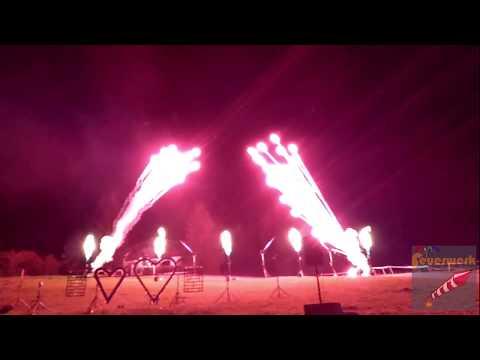 Flammenshow Hochzeit Brenneralm Ellmau