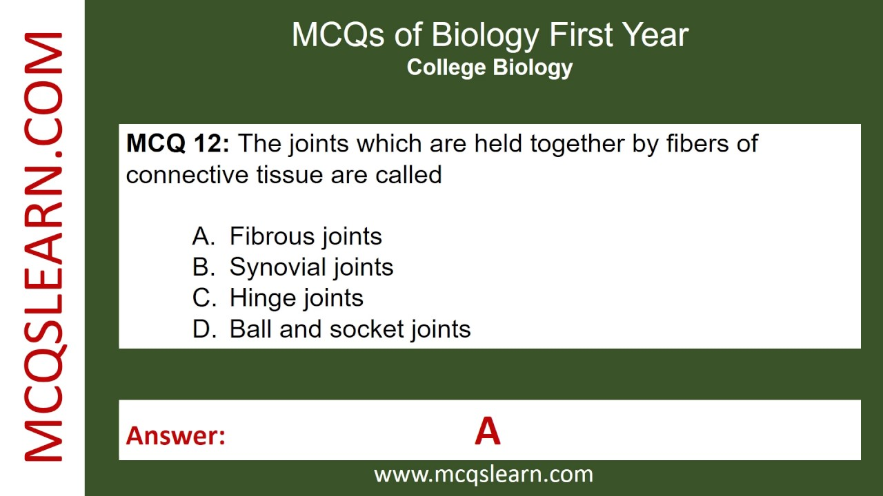 MCQs of Biology First Year - MCQsLearn Free Videos
