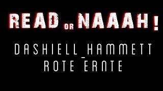 Dashiell Hammett: Rote Ernte - READorNAAAH! #WV.WS