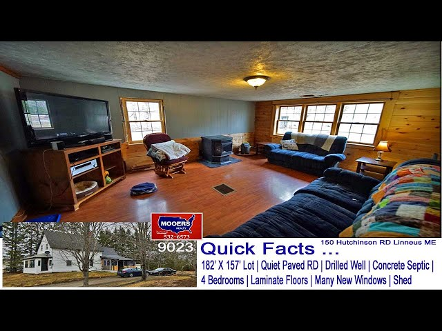 Maine Real Estate | Homes For Sale In ME | 150 Hutchinson RD Linneus ME MOOERS REALTY 9023