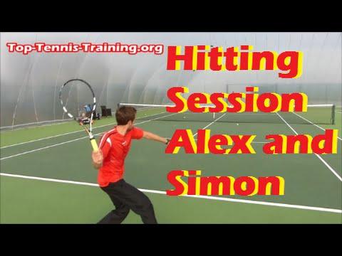 Tennis Training | Pro Hitting Session *AMAZING*