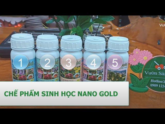 Bộ 5 sản phẩm nano gold sinh học trị nấm và vi khuẩn cho cây