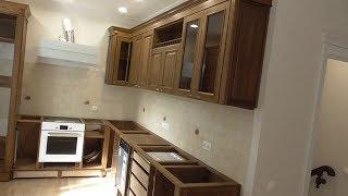 Полный монтаж модулей кухонного гарнитура.
