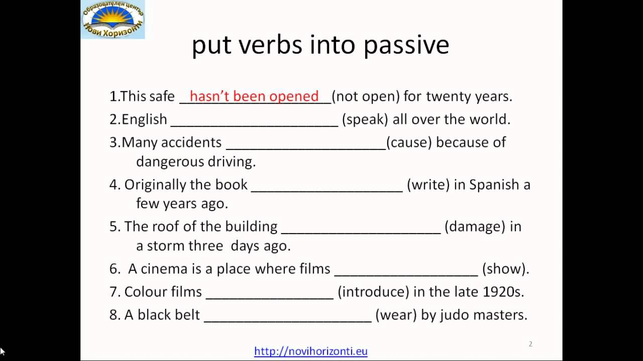 Active or Passive voice exercises YouTube – Active Passive Voice Worksheet