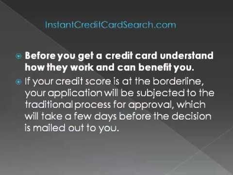 How To Find Instant Approval Credit Cards