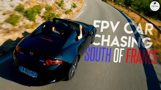 CAR CHASING in the French Calanques   Cinematic FPV