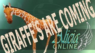 Alicia Online (AO) Updates | GIRAFFES ARE COMING TO THE GAME!!!!