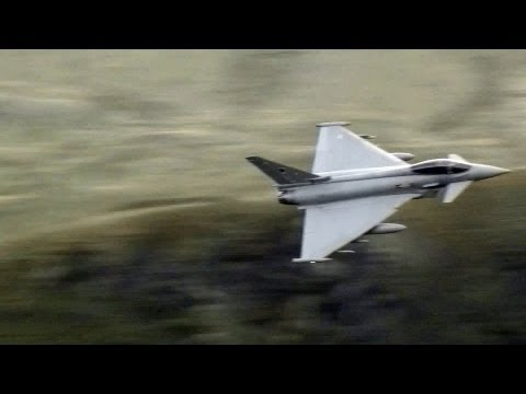 Great Sounding Typhoons Flying Through The Mach Loop Wales.