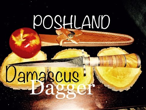POSHLAND RAM-79 Damascus Dagger
