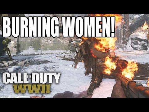 INCINERATING WOMEN! COD WW2 Multiplayer!