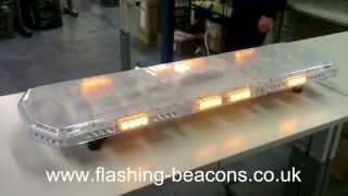 Chameleon 1200mm LED Amber Flash Light Bar with Clear Dome