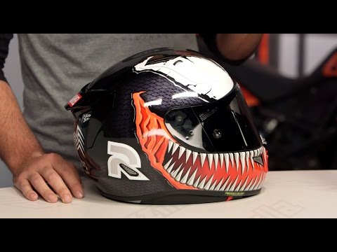 hjc rpha 11 pro venom spiderman helmets review at youtube. Black Bedroom Furniture Sets. Home Design Ideas
