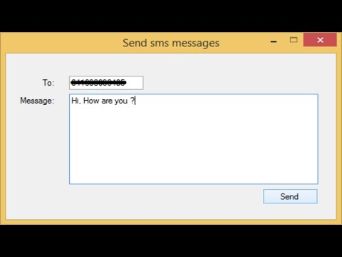 C# Tutorial - How to send SMS Messages to Mobile or Cell phone | FoxLearn