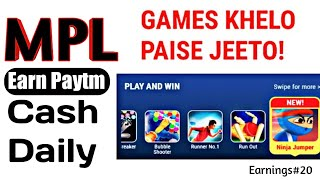 गेम खेलो पैसे कमाओ Best Paytm Earning Apps  Play and Win Unlimited Paytm Cash  With Proof