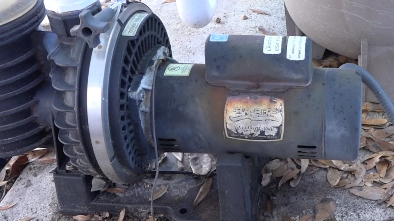 Removing an old sta rite max e glas 2 pool pump motor and for Sta rite pool pump motors