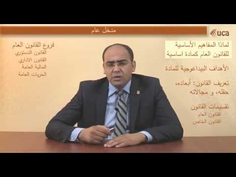 محاضرات في مادة  المفاهيم الأساسية للقانون العام  الدكتور محمد الغالي