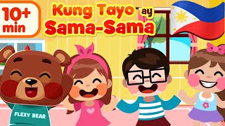 The More We Get Together The Happier We'll Be in Filipino | Awiting Pambata Nursery Song Compilation