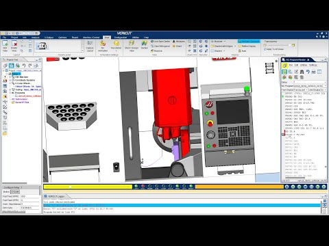 VERICUT CNC Simulation of a Haas UMC 500