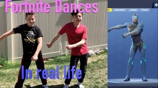 Fortnite Dances in real life, With Bryton Myler & Danny A. Reyes