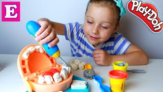 Плей До Пластилин набор стоматолога. Распаковка и обзор игрушки. Видео для детей