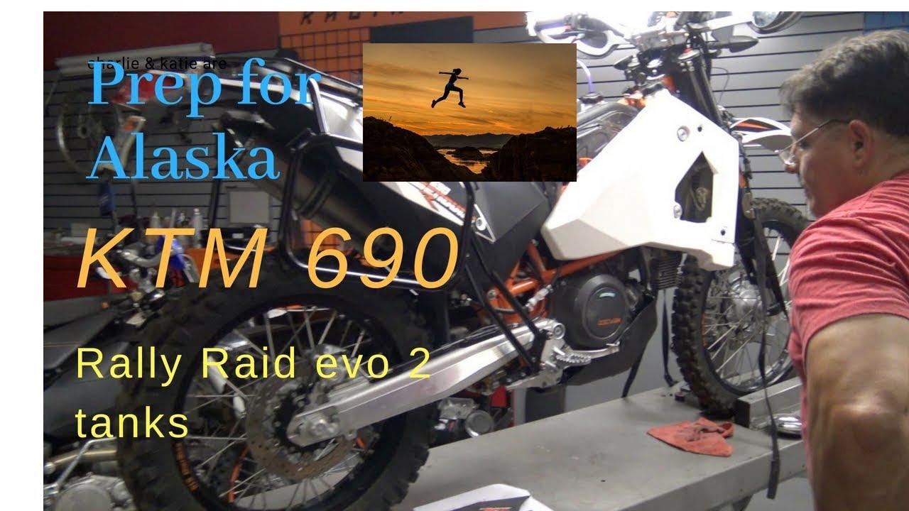 KTM 690 Adventure build  Rally Raid Evo II Fuel Tanks explained