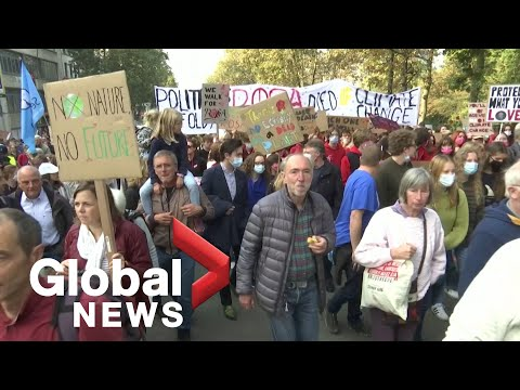 Ahead of COP26, thousands march for climate action in Brussels