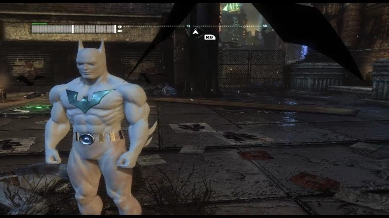 Batman Arkham City Mod Batman Beyond Ghost Youtube