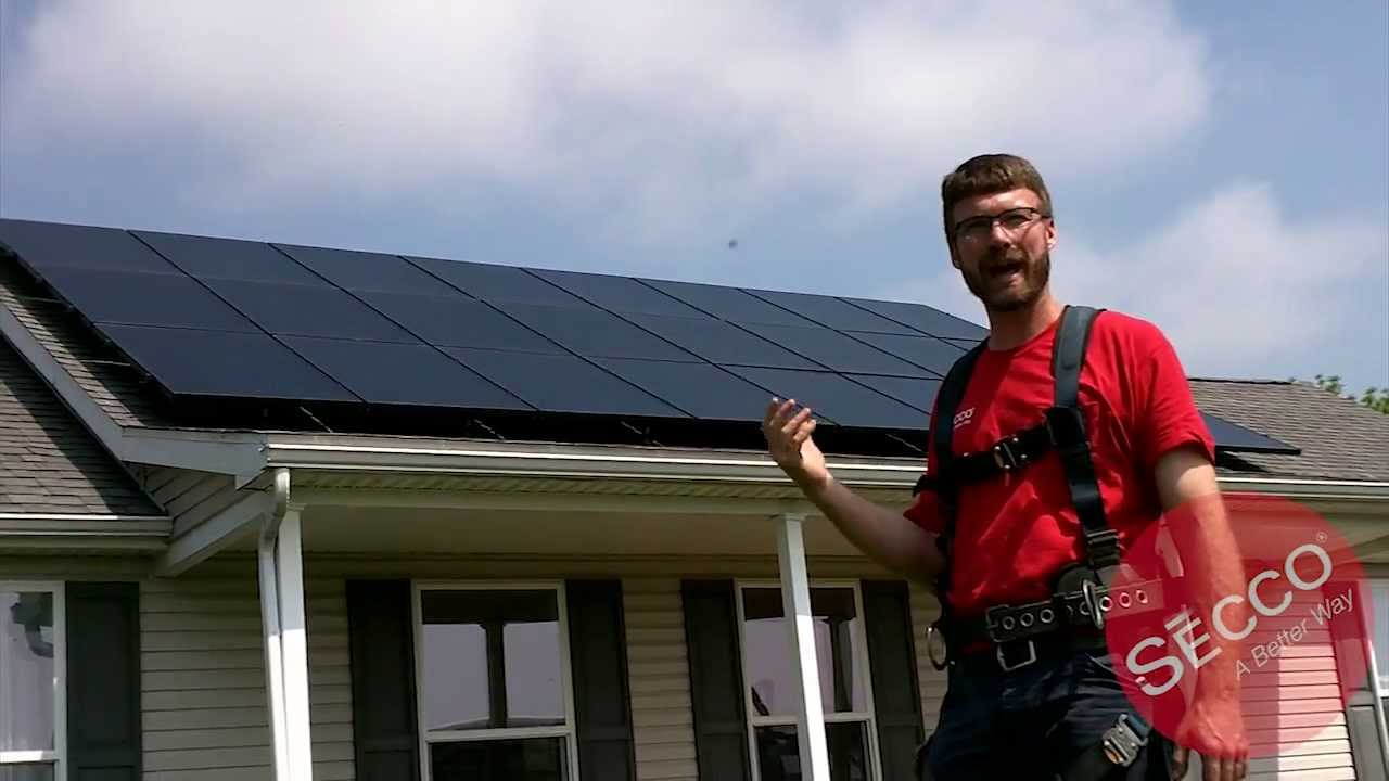 Secco Inc Installation Of Sunpower X Series Panels Youtube