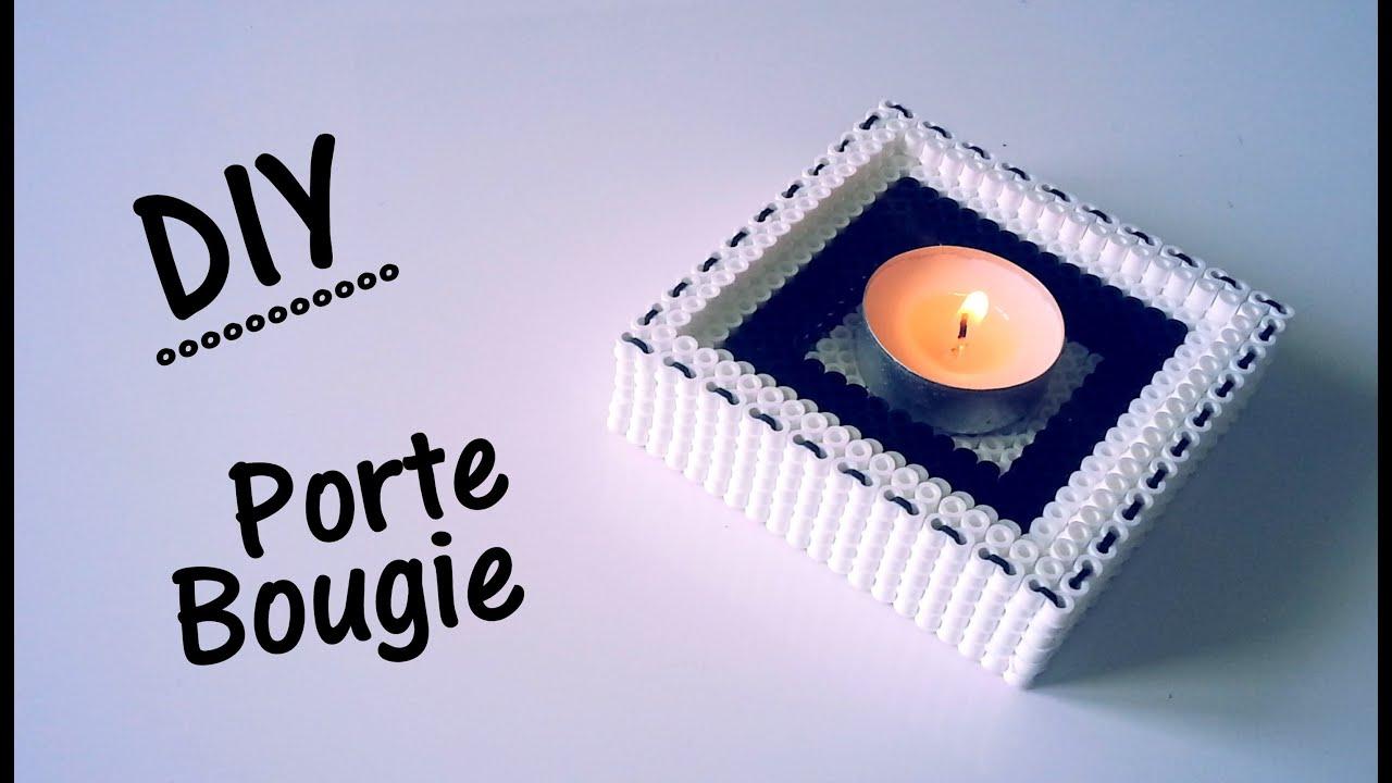 Diy cr ation porte bougie avec des perles repasser hama - Comment fabriquer des bougies parfumees ...