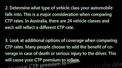 How to Compare CTP Insurance Rates