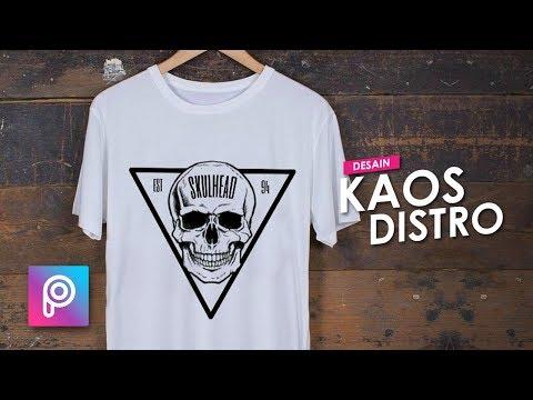 Cara Desain Kaos Distro dengan HP Android - PicsArt tutorial Indonesia.