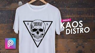 Cara Desain Kaos Distro dengan HP Android - PicsArt tutorial Indonesia
