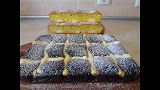 Пироги РЕЦЕПТЫ простые и быстрые ПОДУШКИ шоколадный и ванильный пирог выпечка с творогом
